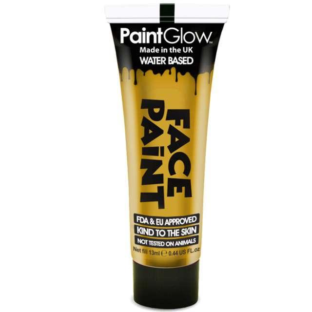 """Make-up party """"Farba do Makijażu"""", złota, PaintGlow, 13 ml"""