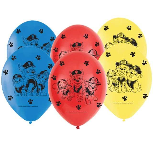 "Balony ""Paw Patrol"", pastel mix, AMSCAN, 9"", 6 szt"