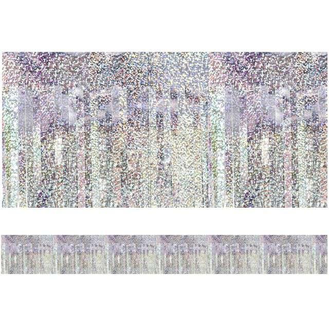 "Girlanda ""Frędzle Lameta"", PartyDeco, holograficzna, 400 x 18,5 cm"