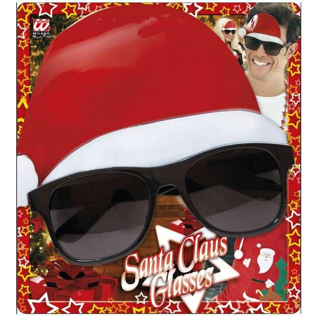 Okulary party Święty Mikołaj w czapce Widmann