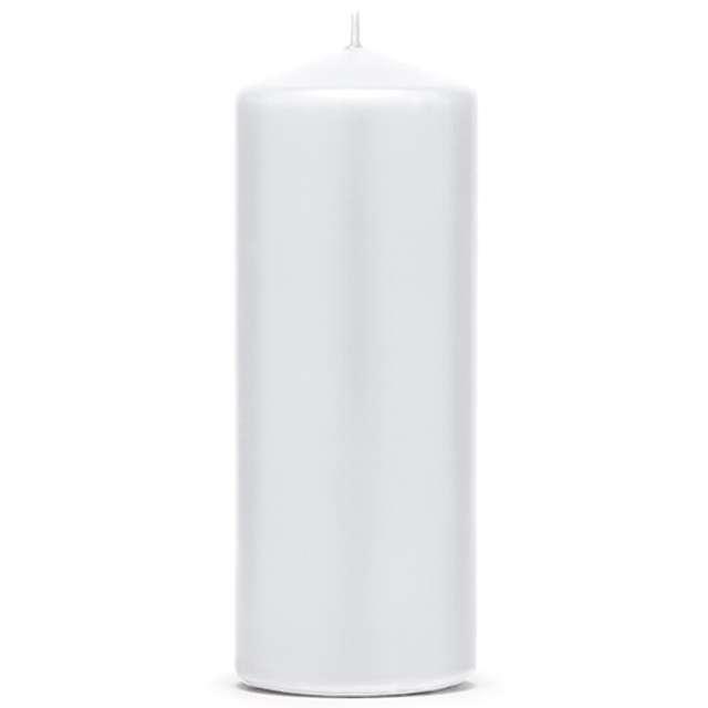 """Świeca """"Klubowa matowa"""", 150x60 mm, biała, 6 szt"""