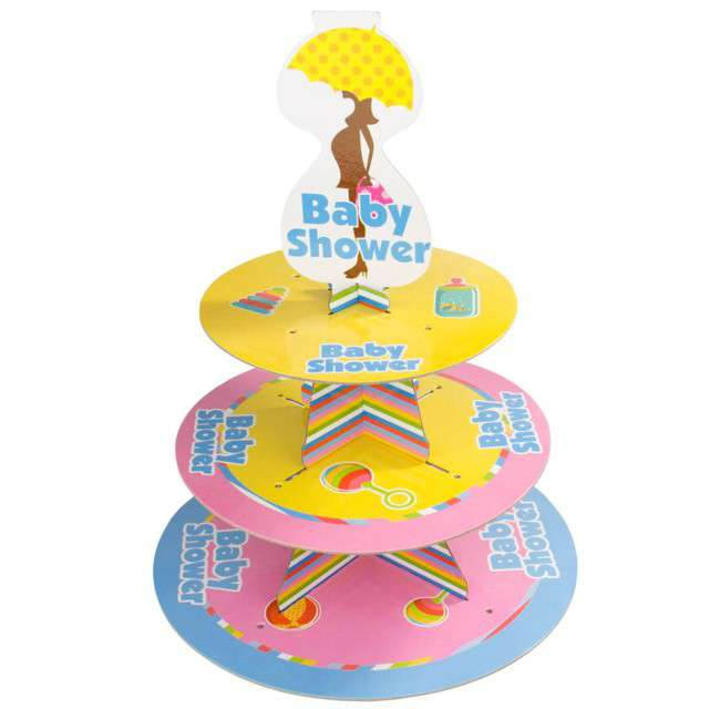 "Patera papierowa ""Baby Shower"", mix, FOLAT, 30 cm"