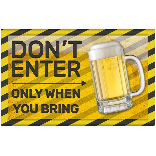 """Dekoracja """"Tabliczka Beer Party Dont Enter"""", FOLAT"""