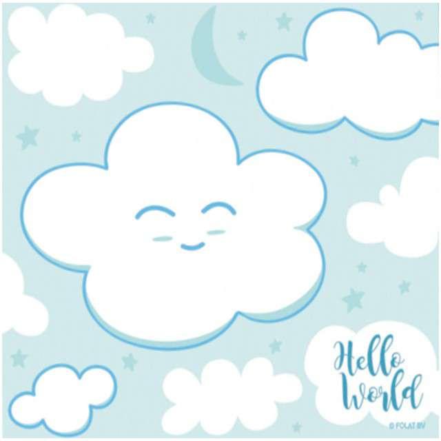 """Serwetki """"Baby Shower - Boy"""", błękitne, 25 cm, 20 szt"""