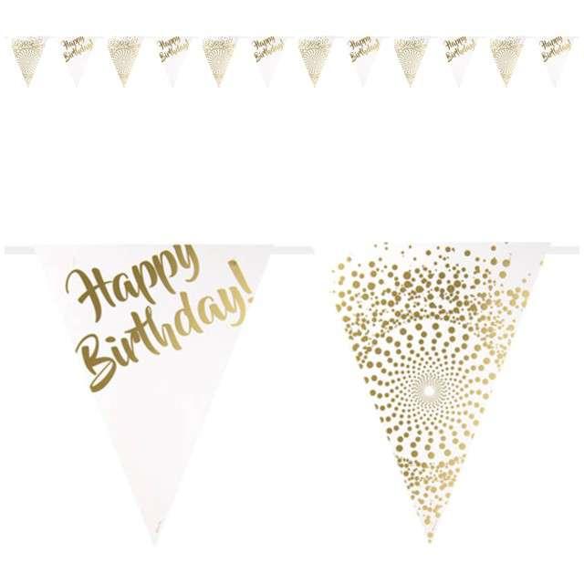 "Baner flagi ""Luxury - Happy Birthday"", FOLAT, 600 cm"