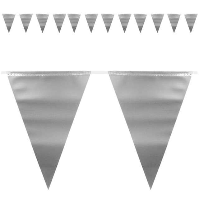 """Baner flagi """"Metaliczny - srebrny"""", FOLAT, 600 cm"""