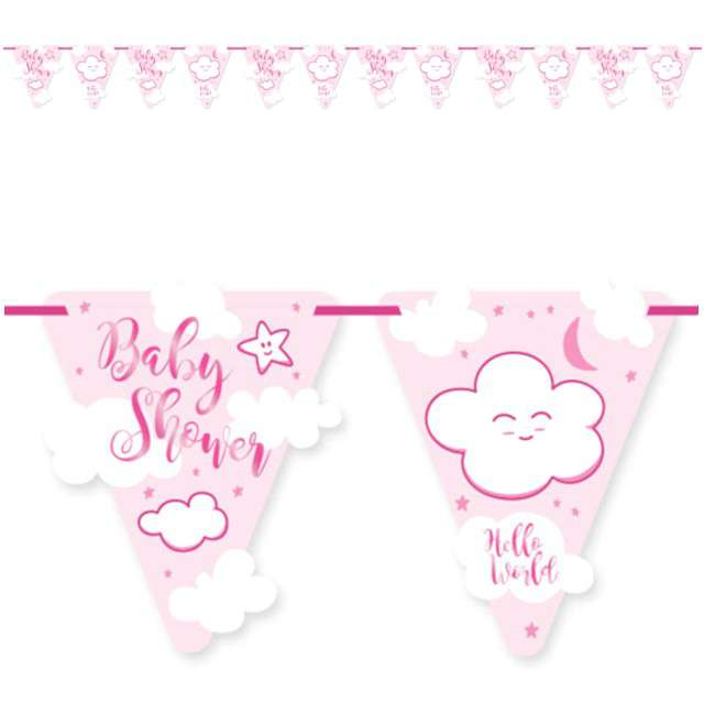"Baner flagi ""Baby shower - Girl"", FOLAT, 600 cm"