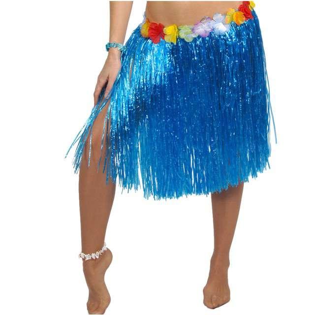 "Spódnica ""Hawajska Krótka"", niebieska, GUIRCA, 50 cm"