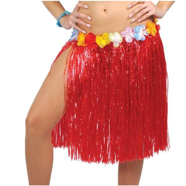 """Spódnica """"Hawajska Krótka"""", czerwona, GUIRCA, 50 cm"""