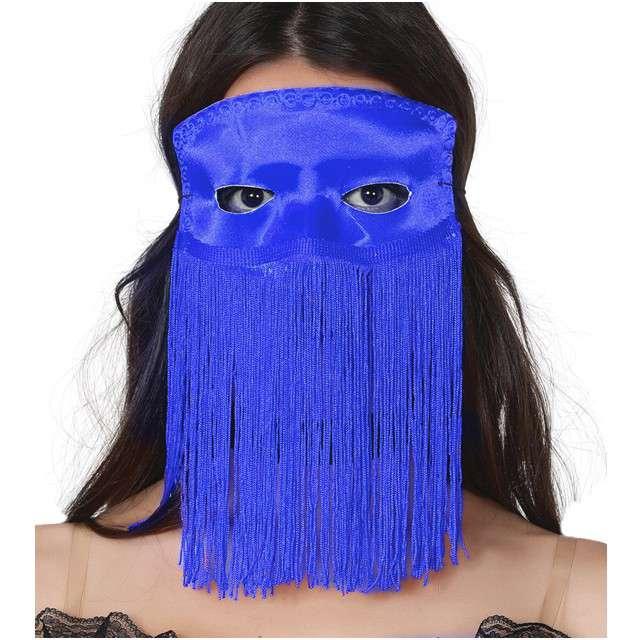 "Maska ""Tancerka Brzucha"", niebieska, GUIRCA"