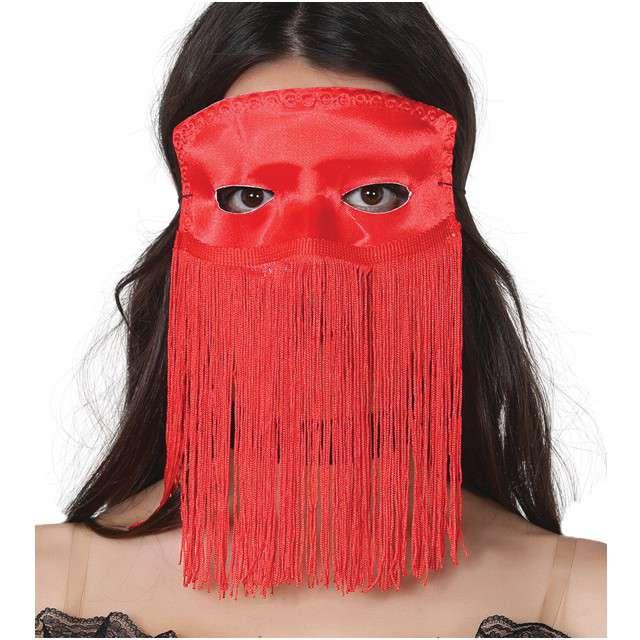 "Maska ""Tancerka Brzucha"", czerwona, GUIRCA"