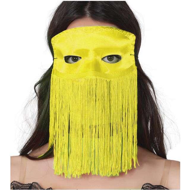 """Maska """"Tancerka Brzucha"""", żółta, GUIRCA"""