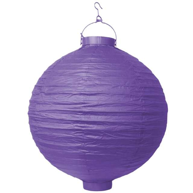 "Lampion papierowy ""LAO30"", fioletowy, Partydeco, 30 cm"