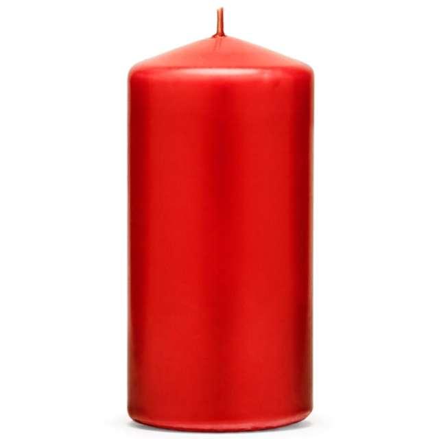 """Świeca """"Klubowa matowa"""", 120x60 mm, czerwona, 6 szt"""