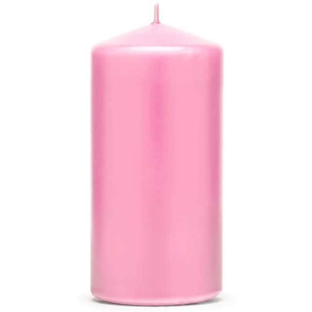 """Świeca """"Klubowa matowa"""", 120x60 mm, różowo-brzoskwiniowa, 6 szt"""