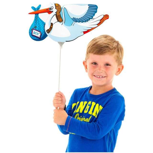 Balon foliowy Bocian - Chłopiec niebieski FOLAT 15 SHP