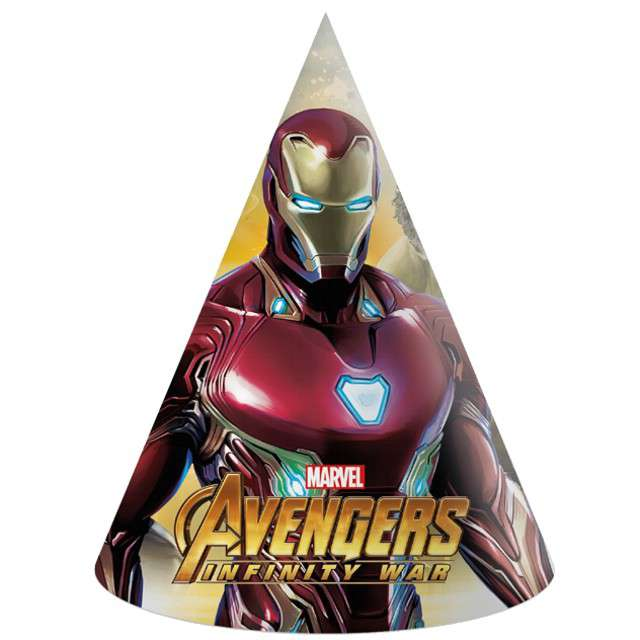 """Czapeczki papierowe """"Avengers Infinity War"""",mix, PROCOS, 18 cm, 6 szt"""