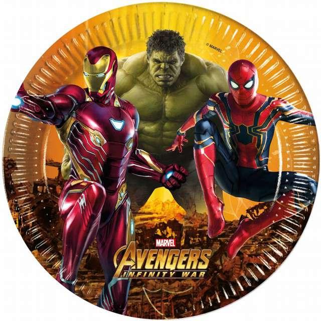 """Talerzyki papierowe """"Avengers Infinity War"""", PROCOS, 23 cm, 8 szt"""