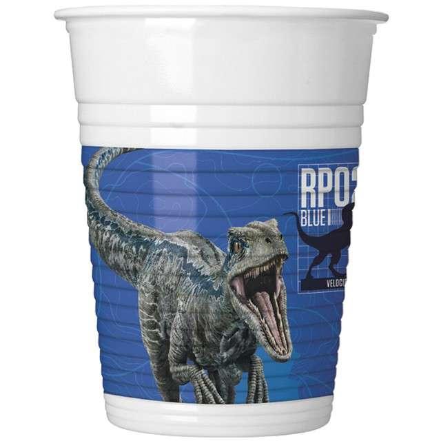 "Kubeczki plastikowe ""Jurassic World"", PROCOS, 200ml, 8 szt"