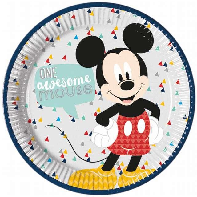 """Talerzyki papierowe """"Mickey Mouse Awesome"""", PROCOS, 23 cm, 8 szt"""