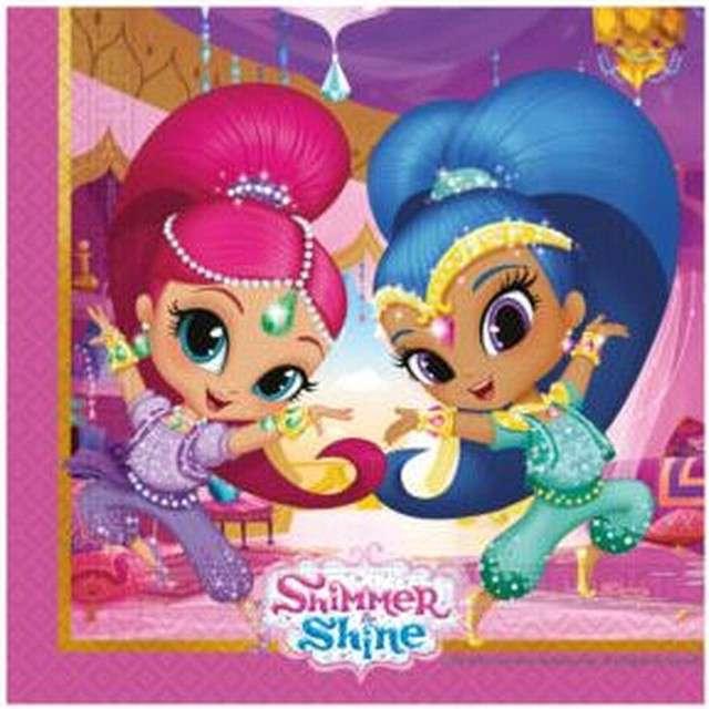 """Serwetki """"Shimmer & Shine"""", PROCOS, 33 cm, 20 szt"""