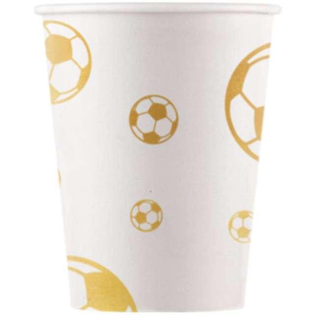 """Kubeczki papierowe """"Football Gold"""", PROCOS, 200 ml, 8 szt"""