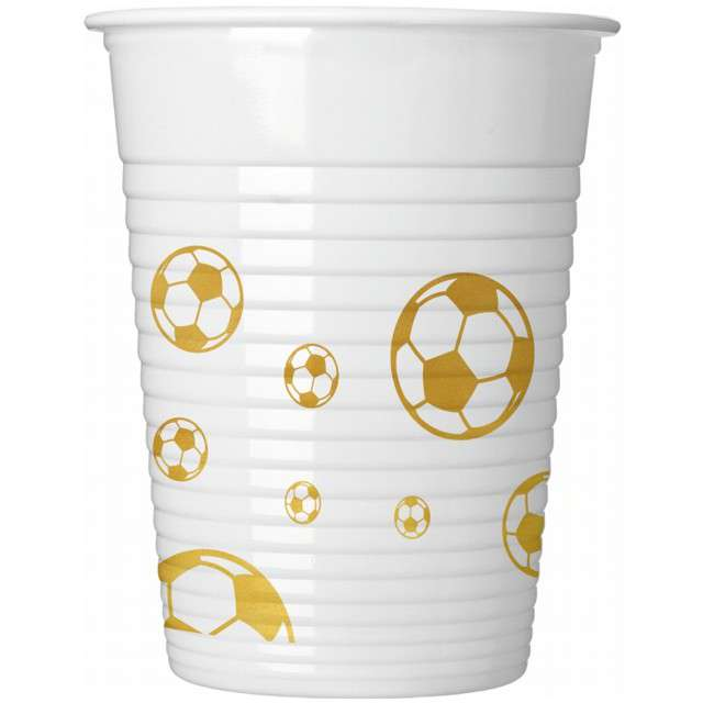 "Kubeczki plastikowe ""Football Gold"", PROCOS, 200 ml, 8 szt"