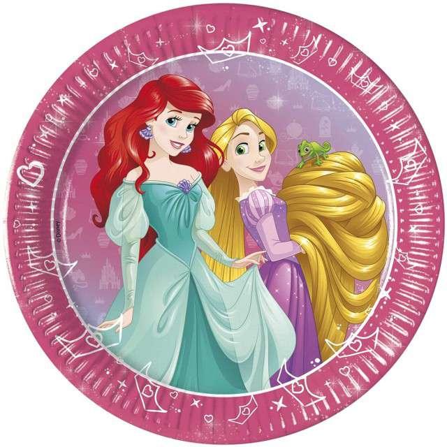 """Talerzyki papierowe """"Disney Princess - Day Dream"""", PROCOS, 20 cm, 8 szt"""