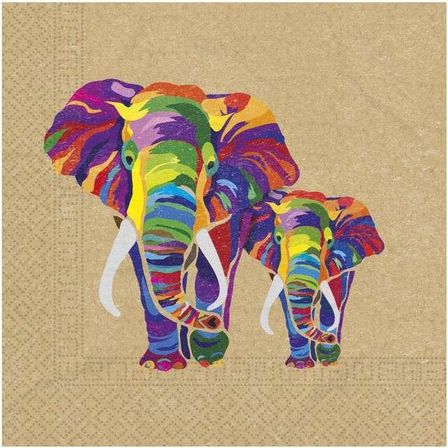 """Serwetki """"Słoń - Party Elephant"""", PROCOS, 33 cm, 20 szt"""
