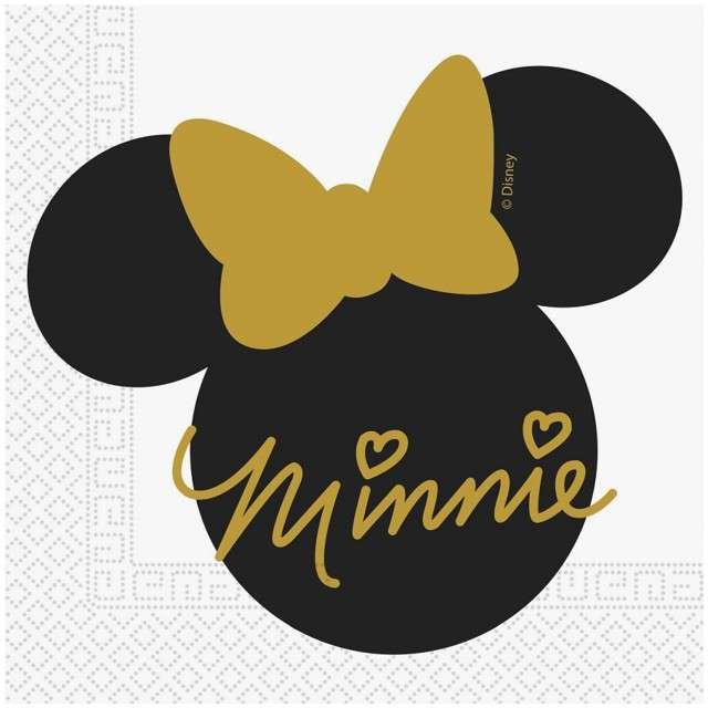 """Serwetki """"Minnie Gold"""", PROCOS, 33 cm, 20 szt"""