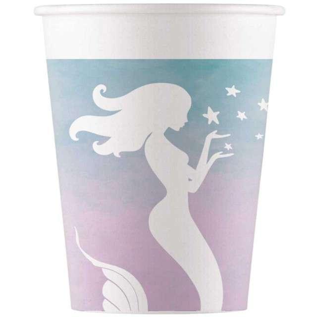 """Kubeczki papierowe """"Elegant Mermaid"""", PROCOS, 200 ml, 8 szt"""