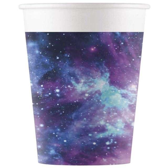 """Kubeczki papierowe """"Kosmos - Galaxy"""", PROCOS, 200 ml, 8 szt"""