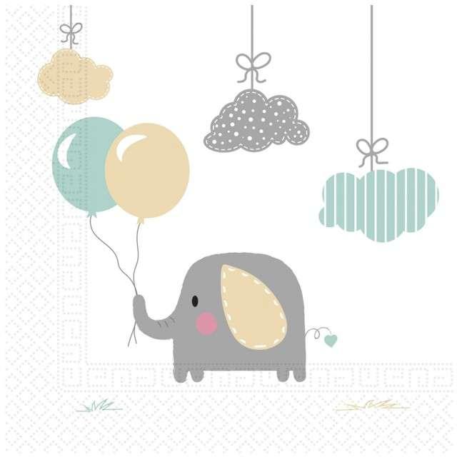 """Serwetki """"Elephant Baby"""", PROCOS, 33 cm, 20 szt"""