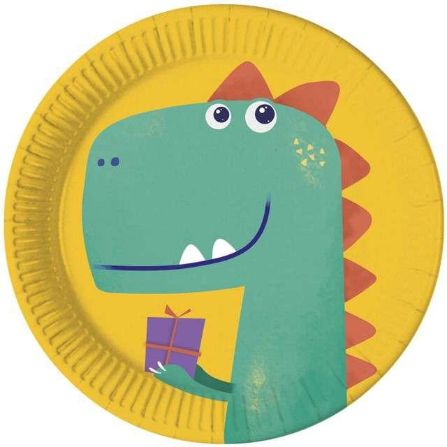 """Talerzyki  papierowe """"Dinozaur Party"""", PROCOS, 23 cm, 8 szt"""