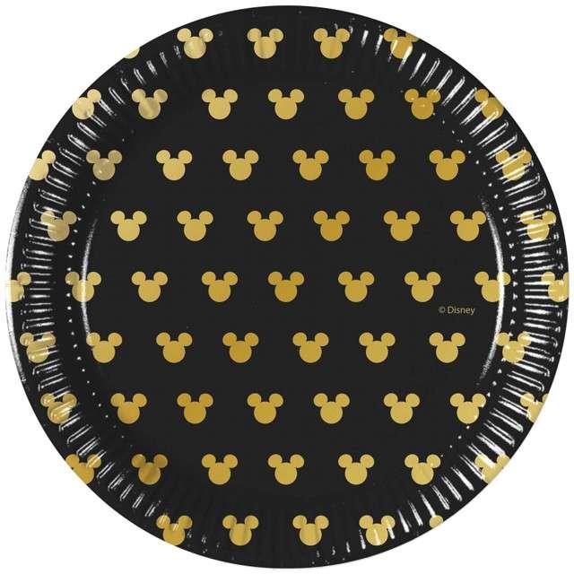 """Talerzyki papierowe """"Mickey Gold"""", PROCOS, 20 cm, 8 szt"""