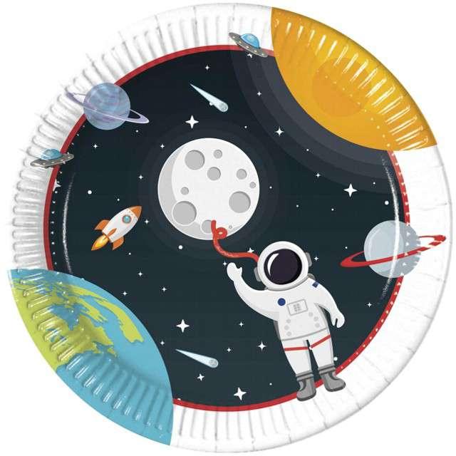 """Talerzyki papierowe """"Kosmos - Outer Space"""", PROCOS, 23 cm, 8 szt"""