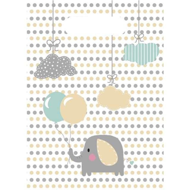 """Torebki foliowe """"Elephant Baby"""", PROCOS, 23 x 17 cm, 6 szt"""
