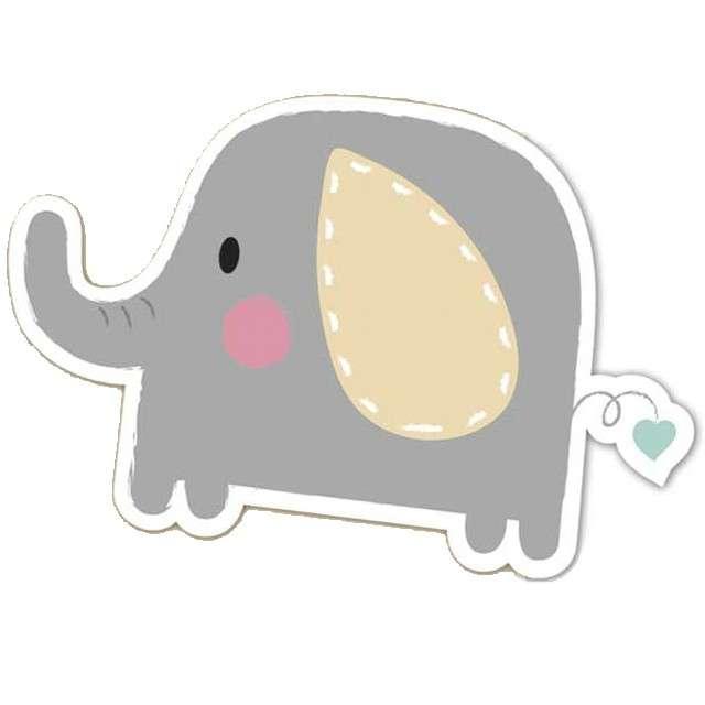 """Zaproszenia urodzinowe """"Elephant Baby"""", PROCOS, 6 szt"""