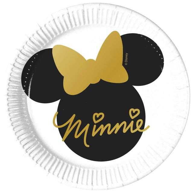 """Talerzyki papierowe """"Minnie Gold"""", PROCOS, 20 cm, 8 szt"""
