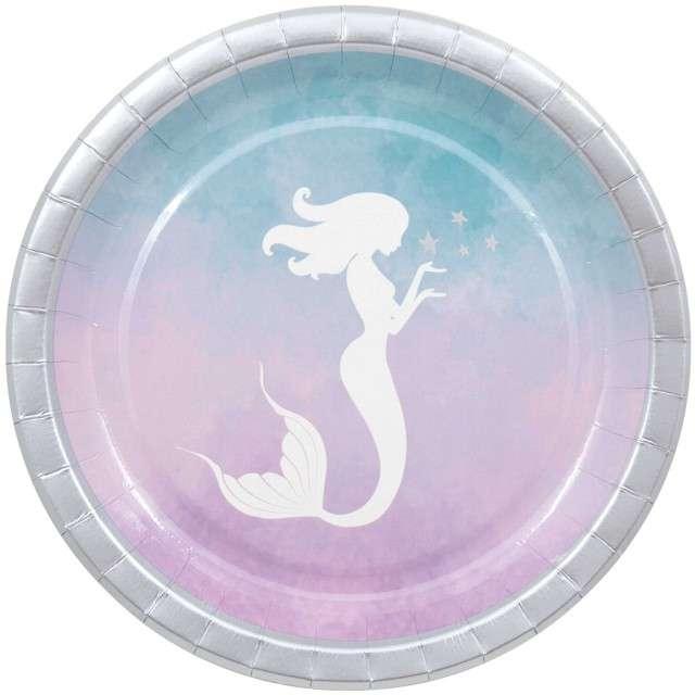 """Talerzyki papierowe """"Elegant Mermaid"""", PROCOS, 23 cm, 8 szt"""