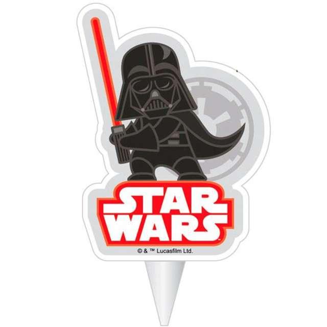 "Świeczka na tort ""Darth Vader - Star Wars"", DEKORA, 7,5 cm"