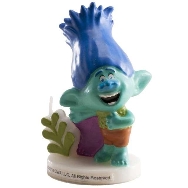 "Świeczka na tort ""Trolls Branch 3D"", DEKORA, 7,5 cm"