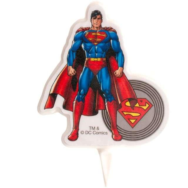 "Świeczka na tort ""Superman"", DEKORA, 7,5 cm"