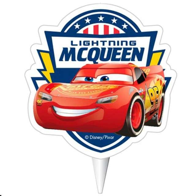 """Świeczka na tort """"Zygzak McQueen - Cars"""", DEKORA, 7,5 cm"""