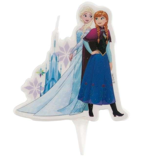 """Świeczka na tort """"Elsa Frozen - Kraina Lodu"""", DEKORA, 7,5 cm"""