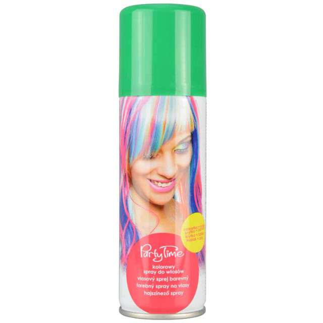 "Spray koloryzujcy ""Party Time"", zielony, ARPEX, 125 ml"
