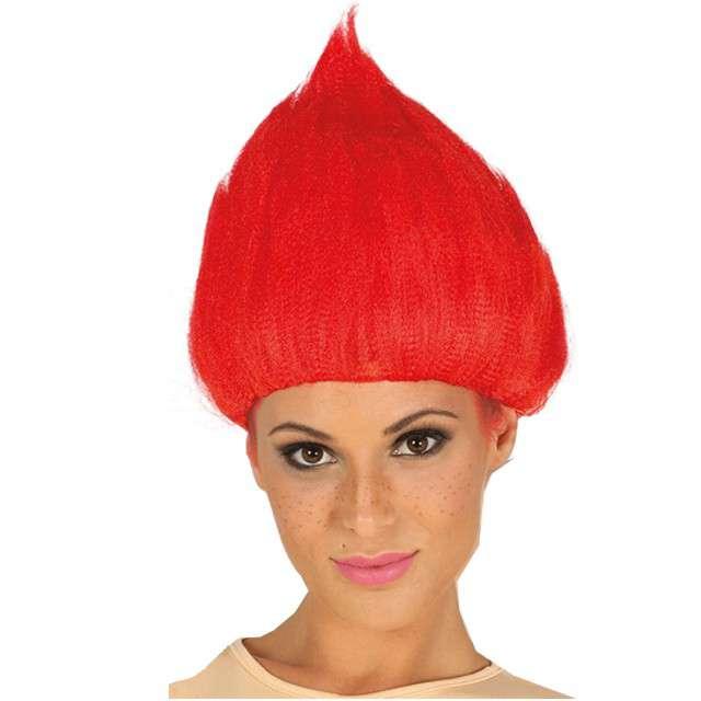 """Peruka party """"Troll"""", czerwona, GUIRCA"""