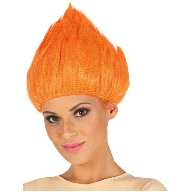 "Peruka party ""Troll"", pomarańczowa, GUIRCA"