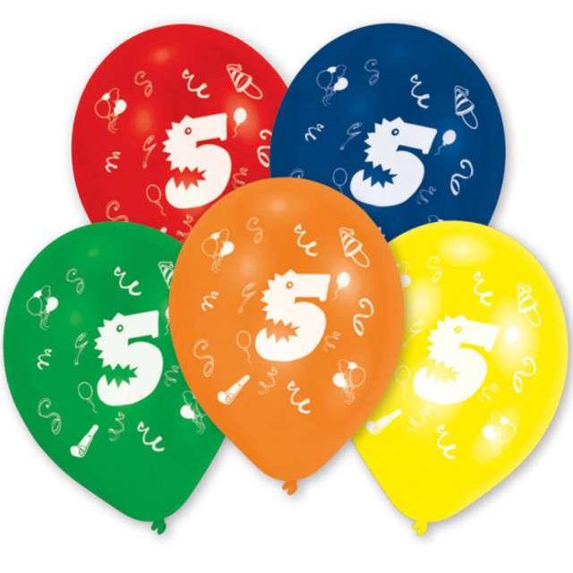 """Balony """"5 Urodziny"""", mix, AMSCAN, 10"""" 10 szt"""