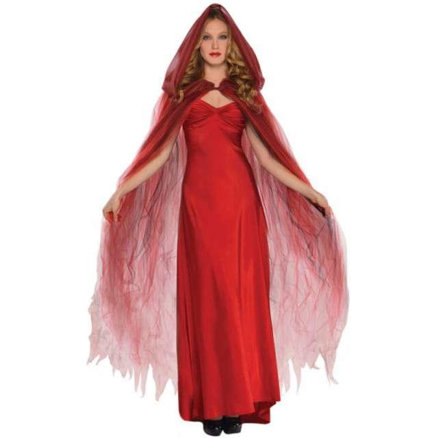"""Strój dla dorosłych """"Peleryna Scarlet Temptress"""", czerwony, AMSCAN, 150 cm"""